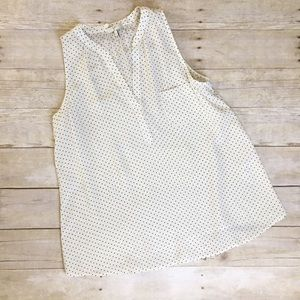 Joie Polka Dot Sleeveless Silk Blouse NWOT